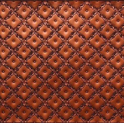 (WC90 - Faux Tin PVC Kitchen Backsplash Roll Antique Copper (Glue Up) - DIY)