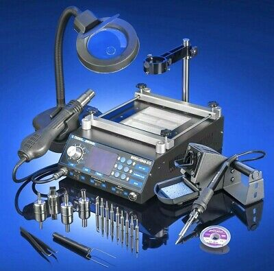 Hot Air Electric Soldering Iron Station Tool Kit Solder Gun W Accessories New