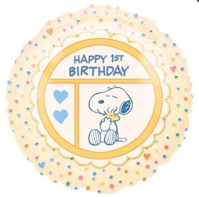 PPY BIRTHDAY 1ST BIRTHDAY SNOOPY PEANUTS WOODSTOCK  AGE 1 (Happy Birthday Snoopy)