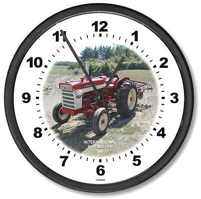 New International Harvester 1958-1963 Model 340 10 Tractor Wall Clock New