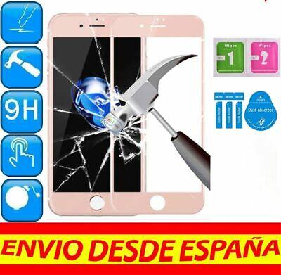 Protector Pantalla Cristal Templado COMPLETO ROSA APPLE IPHONE 7 4.7 KIT LIMPIEZ