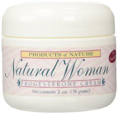 2 Oz Natural Progesterone Cream (Natural Woman Progesterone Cream By Products of Nature -2oz )
