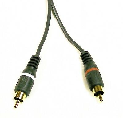 IMPROVED PHONO CABLE  DUAL TURNTABLES GOLD RCA PLUGS -PUSH ON CLIPS AT OTHER END