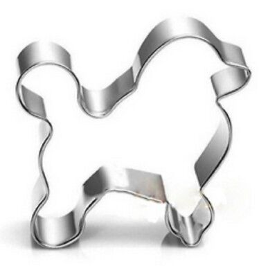 STAINLESS STEEL POODLE DOG BISCUIT COOKIE CUTTER CAKE DECORATOR MOULD SHAPER  - Dog Biscuit Maker
