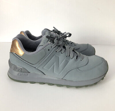 New Balance 574 Gray And Gold Shoes Women's Size 7