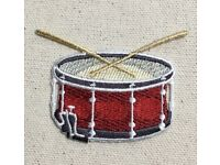 Percussion Musical Instrument Series H34203 WM Snare Drum Rubber Stamp