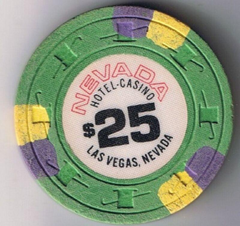 Nevada Hotel Casino $25.00 Casino Chip Las Vegas Nevada