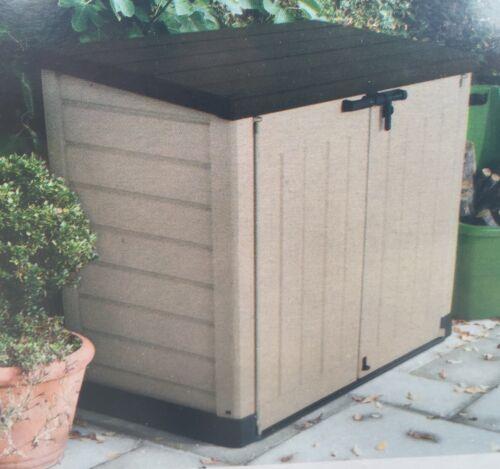 Keter Mülltonnenbox Gartengerätebox 2 x 240 Liter Abfalltonnen XL NEU & OVP