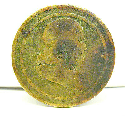 Click now to see the BUY IT NOW Price! ANTIQUE  BENJAMIN FRANKLIN CAMPAIGN TOKEN LATE 1700S ERA
