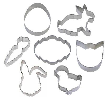 Tulip Cutter - 7 Piece Easter Cookie Cutter Set Egg Carrot Rabbit Tulip Chick