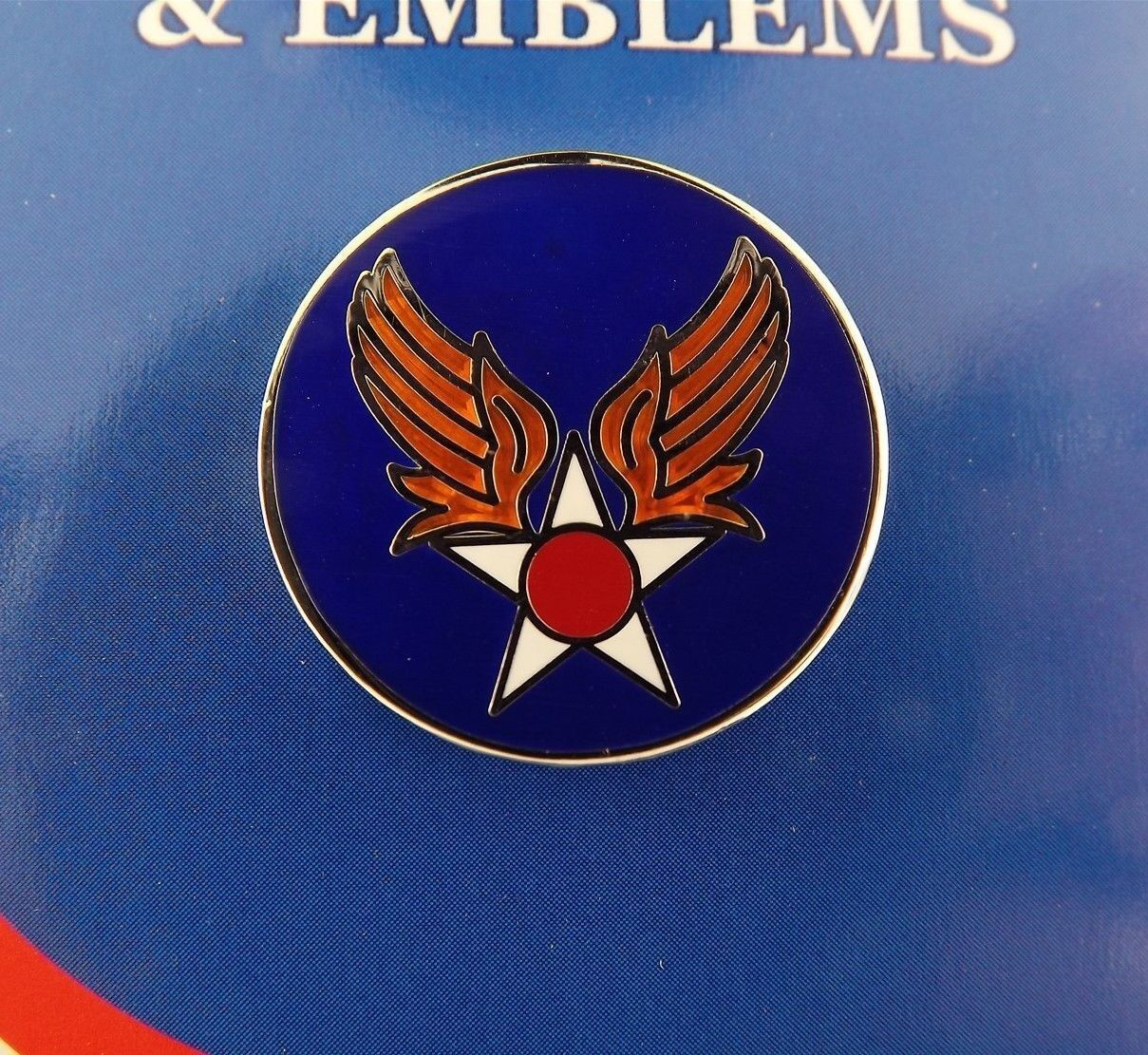 BRAND NEW Lapel Pin USAF Army Aircorp AAF Blue Enamel 1""