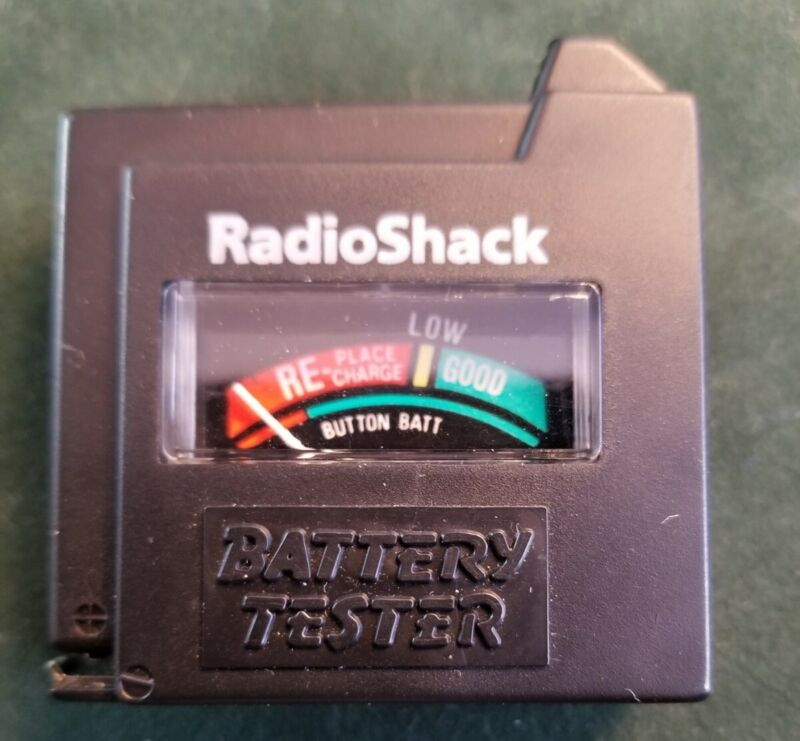 Vintage Radio Shack Battery Tester 22-903 Compact Tested & Works
