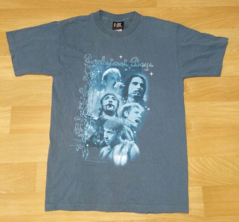 Backstreet Boys Black & Blue World Tour T-Shirt Womens Adult Medium VTG 2001