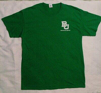 Baylor University BU Bears INTRAMURAL STAFF T-Shirt GREEN Tee L Baylor Staff T Baylor University Bears