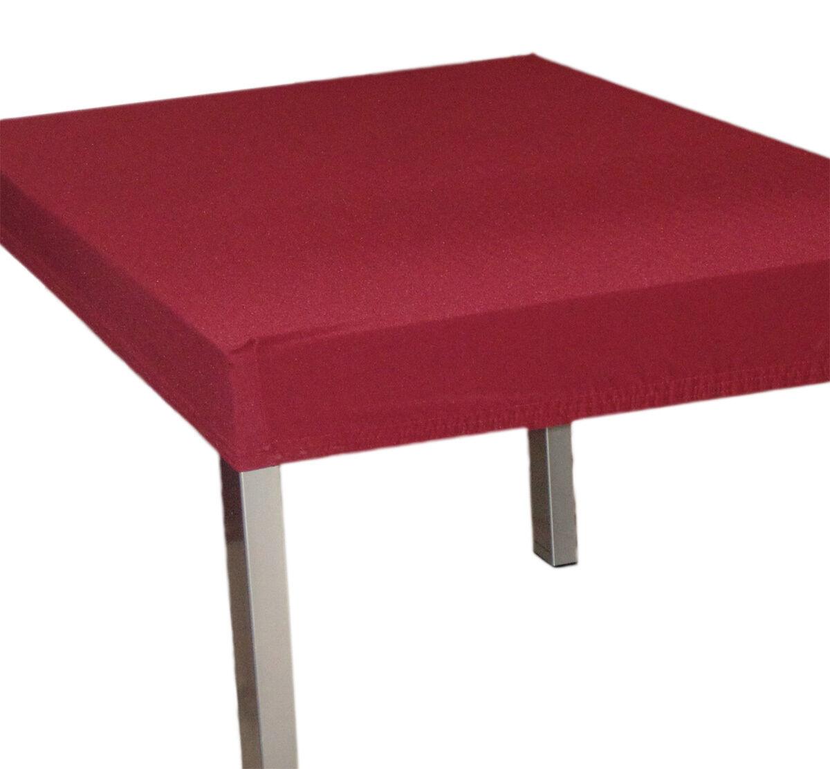 Copritavolo mollettone tovaglia elastico quadrato x tavola 4 bordeaux 85x85 ebay - Mollettone per tavolo ...