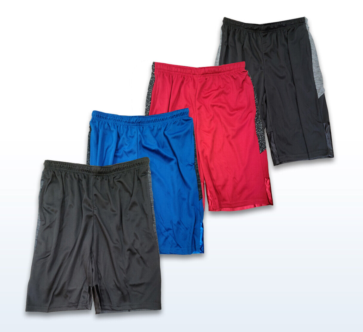 6th Man Pack of 4 Men's Athletic Basketball Shorts Mesh Quic