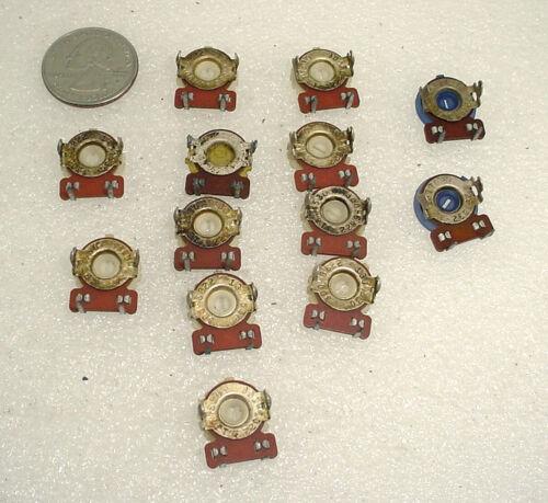 13 NOS CTS 6.8K 25K Vintage Bakelite Trimmer Pots Potentiometers