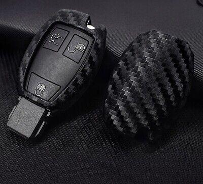 Schlüsselhülle Cover Carbon Optik Passend für Mercedes Benz A B C E CLA GLA CLS