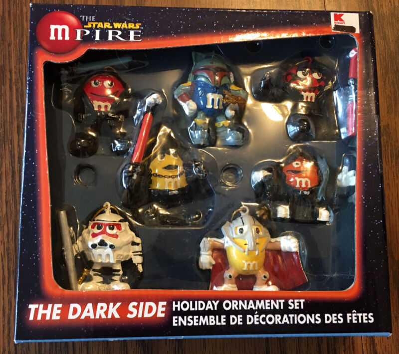 New Star Wars MPire Christmas Ornaments  M&Ms Lot of 7 Dark Side Figures