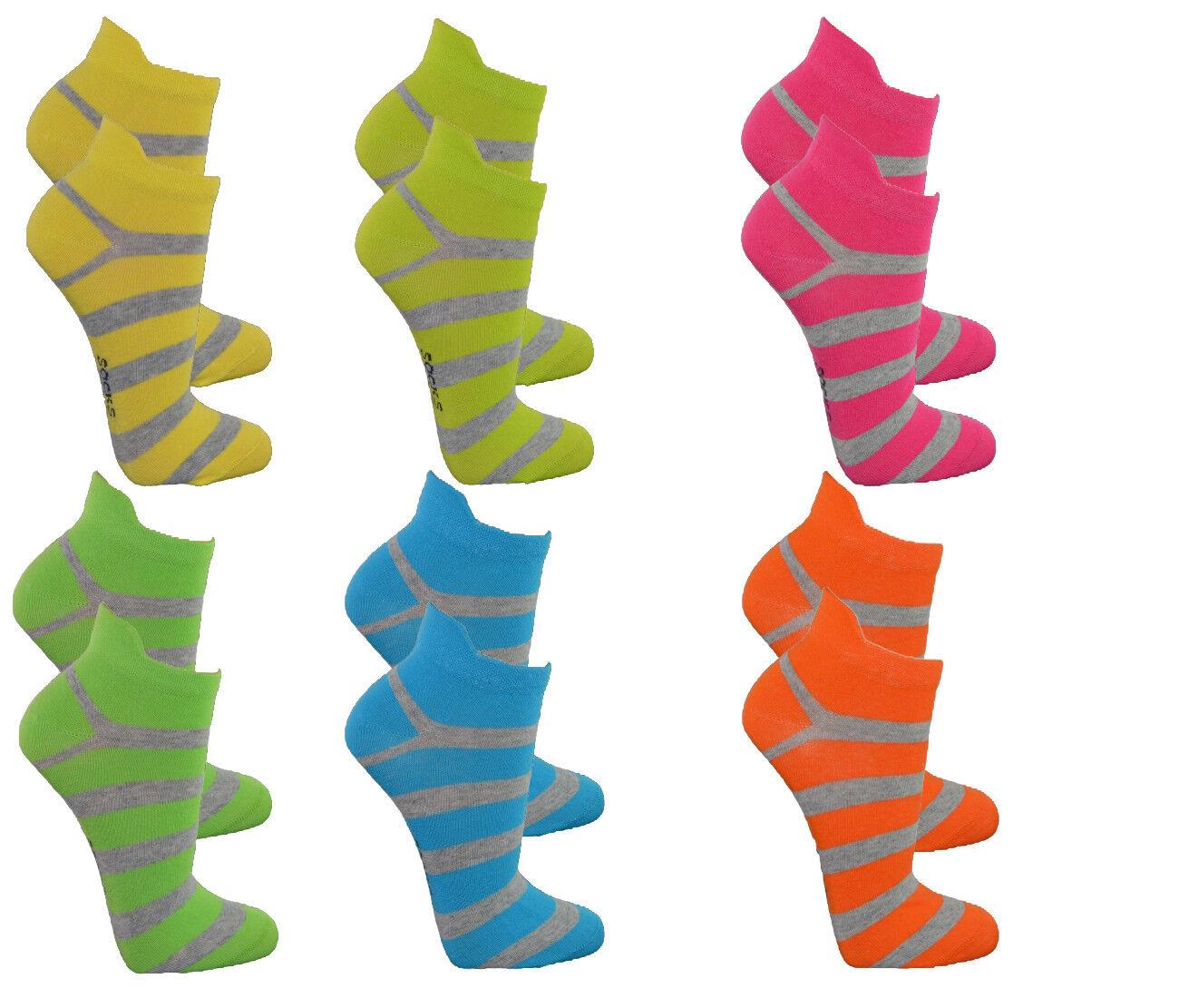 Damen Kurzsocken,6 PACK,Tolle Farben,hoher Baumwollantei