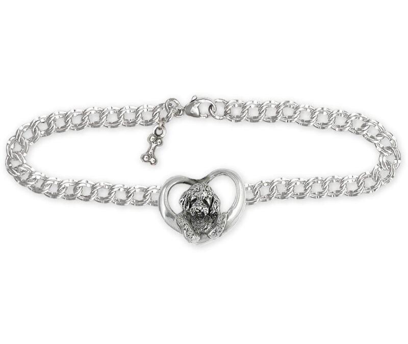 Goldendoodle Bracelet Jewelry Sterling Silver Handmade Goldendoodle Bracelet GDL