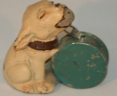 EXTREMELY Rare ANTIQUE figural~~metal BONZO German DOG Tape Measure~~NOVELTY