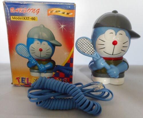 Doraemon Robot Cat playing Tennis novelty telephone
