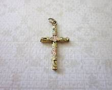 Antique rolled gold cross pendant c1900 New Lambton Newcastle Area Preview
