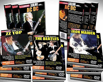 LICK LIBRARY LEARN TO PLAY 5 DVDS TUTORIAL GUITAR BOXSET  on Rummage