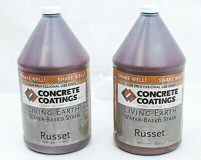 Concrete Coatings Living Earth Water Based Stain Russett 1 Gallon 2pk