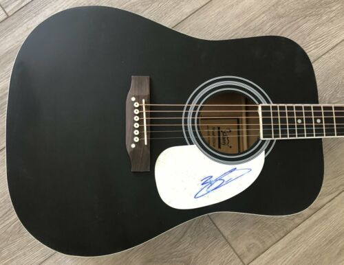 """BRANTLEY GILBERT SIGNED AUTOGRAPH BLACK 41"""" FULL SIZE ACOUSTIC GUITAR w/PROOF"""