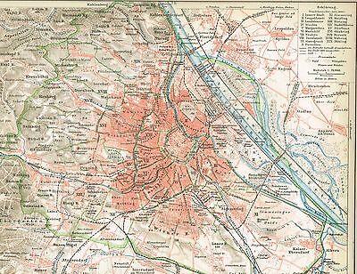 Karte von WIEN 1895 Original-Graphik