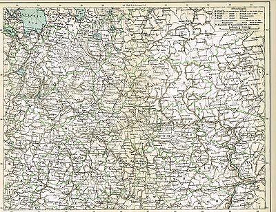 Karte RUSSLAND / ZENTRAL-RUSSLAND 1895 Original-Graphik