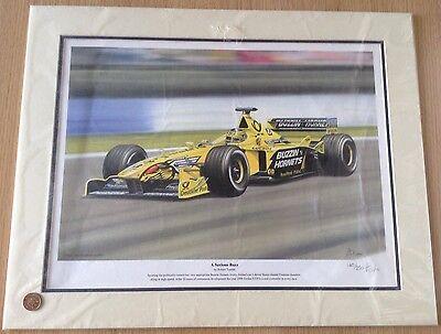 Jordan Mugen Honda Heinz-Harald Frentzen F1 Car Limited Edition Signed Print