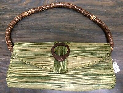 Fair Trade Ten Thousand Villages Green Handcrafted Artisan Purse NWT MSRP $29, used for sale  Shipping to India