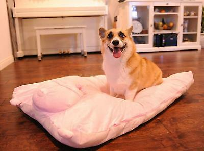 "Pet Mat Dog Bed Fleece Pig Cover W 28"" X L42"" Soft Washable Large Do It Yourself"
