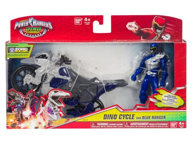 Power Rangers Dino Charge Cycle With Blue Ranger Figure BNIB - 42073