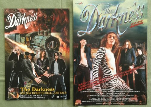$0 ship! THE DARKNESS Japan PROMO flyer x 2 set  MINI poster 03 TOUR One Way Tix