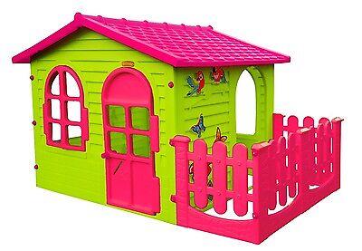 Spielhaus mit Terrasse XXL Riesiges Kinderhaus Gartenhaus Pink indoor outdoor