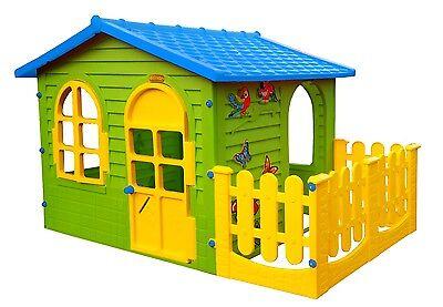 Spielhaus mit Terrasse XXL Riesiges Kinderhaus Gartenhaus Blau indoor outdoor