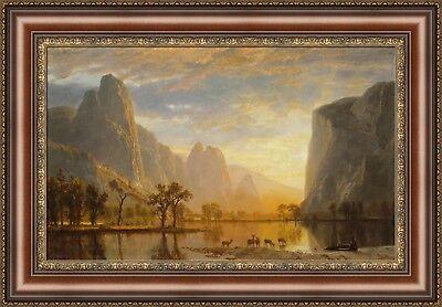 - Albert Bierstadt Valley of the Yosemite Framed Canvas Print 27