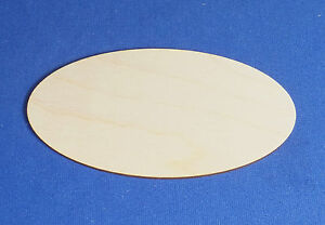 10 Birch Plywood Rectangle/Oval Door Plaques Sign Craft Shapes Pyrography Blanks