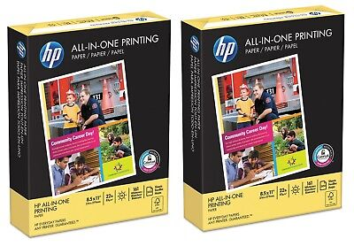 2xhp All-in-one Printing Paper 22lb 96 Bright 8 12 X 11white500 Sheetsream