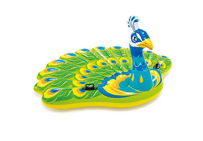 Intex Inflatable Ride On Mega Peacock Island Pool Lounge Lake Pond Float 57250EP