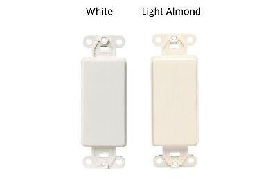 Leviton Decora Blank Insert Plastic Adapter Plate Screws Included  Decora Insert Plate