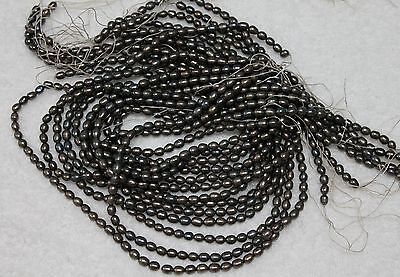 6300 ONE STRAND DARK RICE FRESHWATER PEARL LOOSE JEWELRY CRAFT BEAD