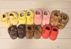 Baby moccasins - Leather baby moccasins - Baby shoes