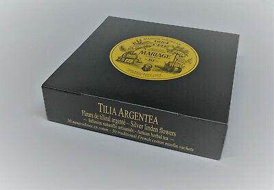 Mariage Freres - TILIA ARGENTEA - Box 30 muslin tea sachets / (Organic Muslin Tea Bags)