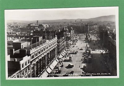 O'Connell Street Dublin from Nelson Pillar RP pc used 1947 Valentines Ref H132