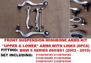 para-BMW-E60-E61-530-530d-DELANTERO-lower-amp-upper-brazos-de-suspension